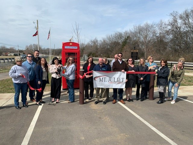 Ribbon Cutting for the Little Library & Kiwanis Club of Mt. Juliet