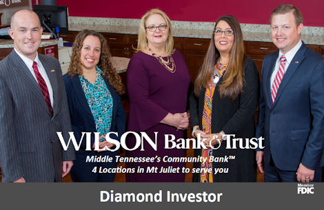 Wilson Bank Mt Juliet Branches Diamond Sponsor